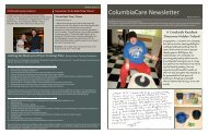 ColumbiaCare Newsletter - Columbia Care Services, Inc.
