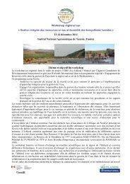 Workshop régional_ Gestion intégrée des ressources en eau ... - Iresa