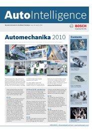 Auto Intelligence Issue 12 - Autumn 2010 - Bosch