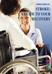 SS1 - guide to recovery - Chest Heart & Stroke Scotland