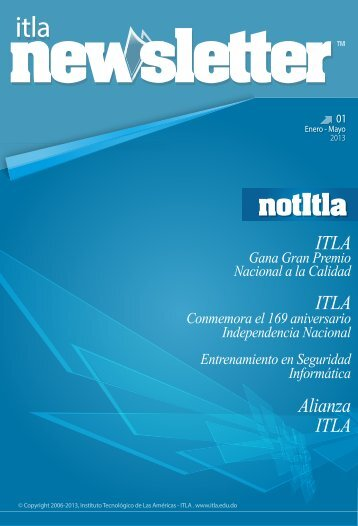 ITLA Newsletter En-May 2013