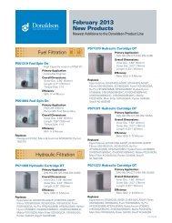 February 2013 New Products - Donaldson Company, Inc.