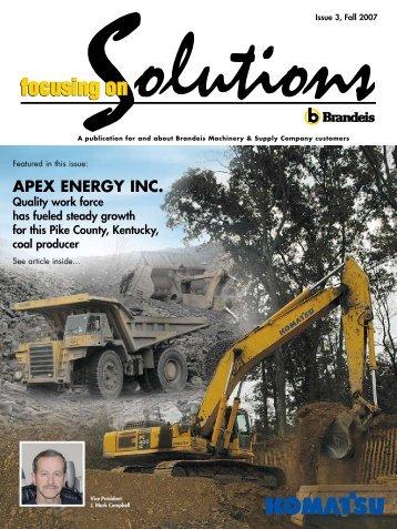 APEX ENERGY INC. - Brandeis Focusing on Solutions magazine