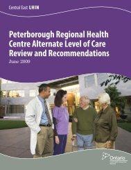 Peterborough Regional Health Centre Alternate Level of Care ...