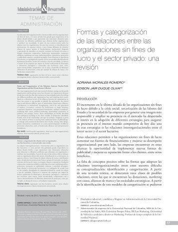 formas y categorización de las relaciones entre las organizaciones ...
