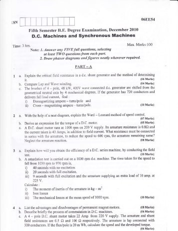 D.G. Machines and Synchronous Machines 2a. 3a.