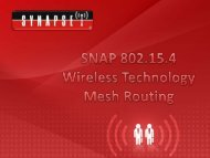 Mesh routing overview - Synapse Wireless