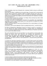 Prise de parole du 19 octobre - Tarbes-Infos