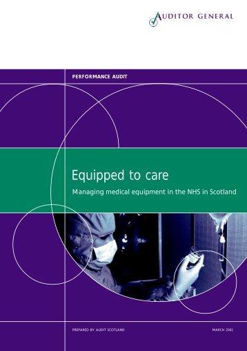 Managing medical equipment in the NHS (PDF ... - Audit Scotland