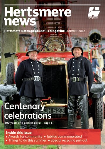 Hertsmere News Summer 2012 - Hertsmere Borough Council