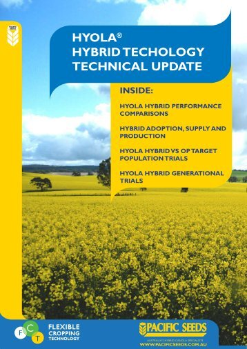 hyola® hybrid techology technical update inside - Directrouter.com