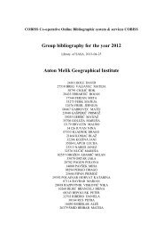 Group bibliography for the year 2012 Anton Melik Geographical ...