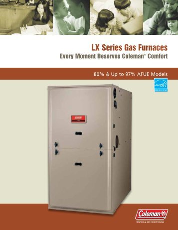 Coleman LX Series Two-Stage and Single-Stage Gas Furnaces ...
