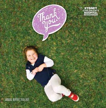 Annual Report 10-11 - Sydney Children's Hospital Foundation