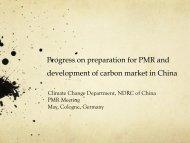 China: Update Carbon Market Developments