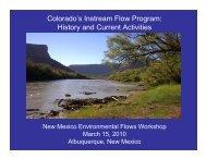 Colorado's Instream Flow Program - Utton Transboundary ...