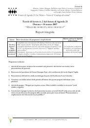Report - Agenda 21 Est Ticino