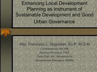 Enhancing Local Development Planning - LGRC DILG 10