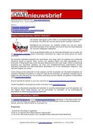 Onderwerp : eDAVID-nieuwsbrief, nr