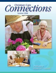 Summer 2008 - Christian Care Communities