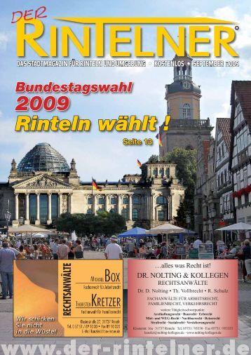 Bundestagswahl 2009 ? Rinteln wählt! - Der Rintelner