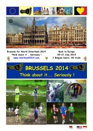 Brussels for World InterHash 2014 Think about it ... - e-tron