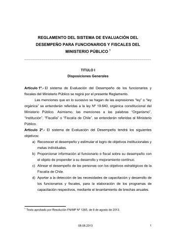 REGLAMENTO DEL SISTEMA DE ... - Ministerio Público
