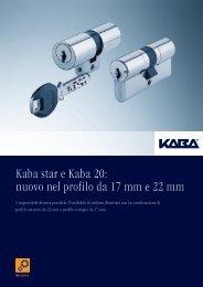 Kaba star e Kaba 20: nuovo nel profilo da 17 mm e 22 mm