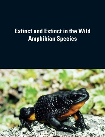 Extinct and Extinct in the Wild Amphibian Species