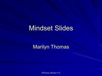 Mindset Slides