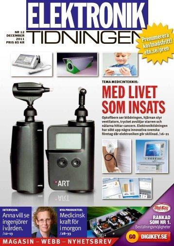 TIDNINGEN MEd LIvET sOM INsaTs - Elektroniktidningen