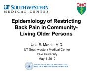 Natural History of Restricting Back Pain in Community-Living Older ...