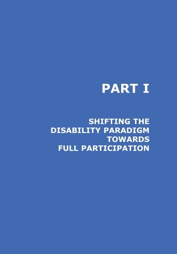 PART I - Disability Monitor Initiative