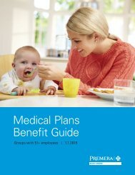 Medical Plans Benefit Guide - Premera Blue Cross