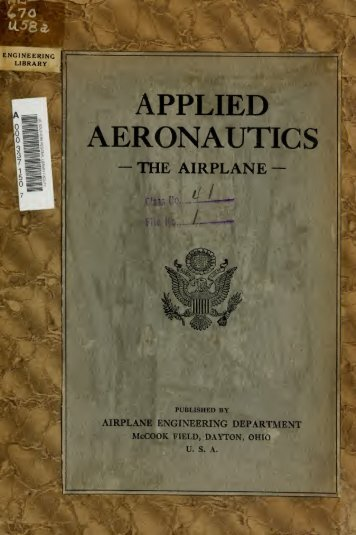 Applied aeronautics; the airplane - Beeldbibliotheek