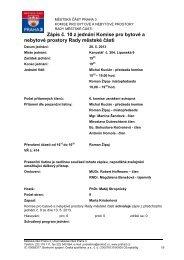 Zápis č. 10 z jednání Komise pro bytové a nebytové ... - Praha 3