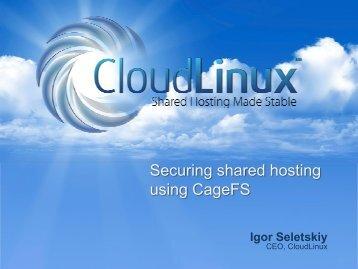 Securing shared hosting using CageFS - WorldHostingDays