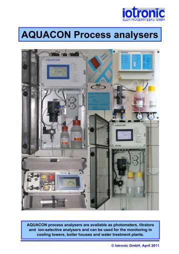 New Aquacon Touchscreen Analyzer - Brave Engineering Ltd.