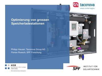 Optimierung von grossen Speicherladestationen - Institut für ...