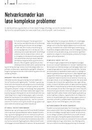 Netværksmøder kan løse komplekse problemer