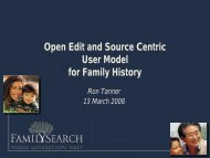 Open Edit and Source Centric User Model for Family History