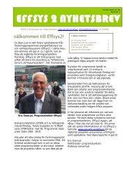 Nyhetsbrev 1, våren 2007 - effsys 2