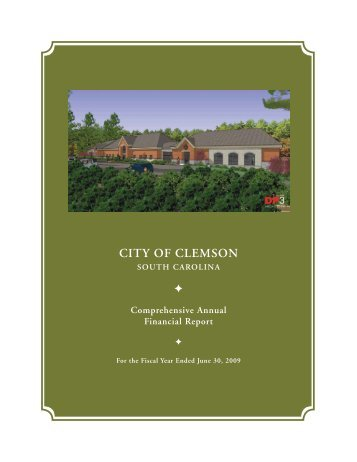 Comprehensive annual Financial report - The City of Clemson