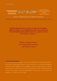 derecho romano y educación secundaria obligatoria - revista ...