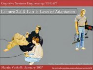 Lecture 2.5 & Lab 1: Laws of Adaptation - Cognitive Systems ...