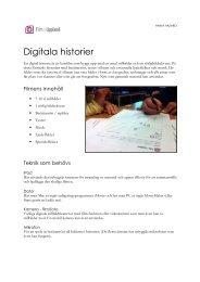 Läs mer om projektet Digitala historier här.