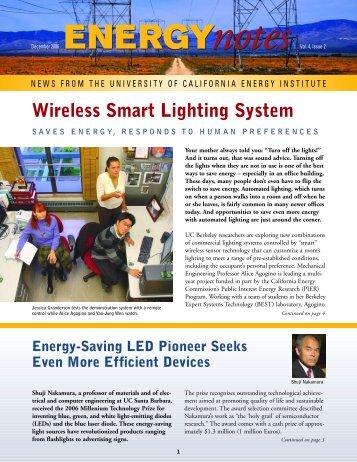 Wireless Smart Lighting System - Berkeley Expert Systems ...