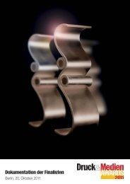 Dokumentation der Finalisten - Druck & Medien Awards 2012