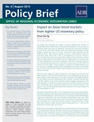 Impact on Asian Bond Markets from Tighter US Monetary Policy