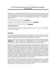 XXIV Reunión Ordinaria del SGT Nº6 Medio Ambiente Acta Nº04/03
